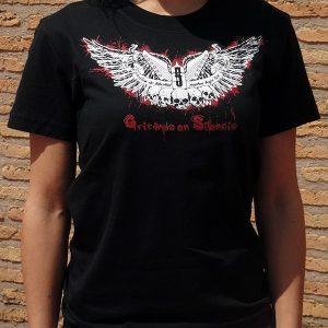 Camiseta Logo Alas negra
